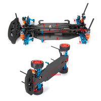 AXSPEED Alloy & Carbon Frame Body Wheels Kit For RC 1/10 Drift Racing Car Shaft Drive