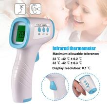 Baby Digital Infrared IR Thermometer LCD Digital Ear Forehead Infrared Thermometer Non-contact Thermometer Body Temperature Gun gun type infrared ir thermometer az 8859