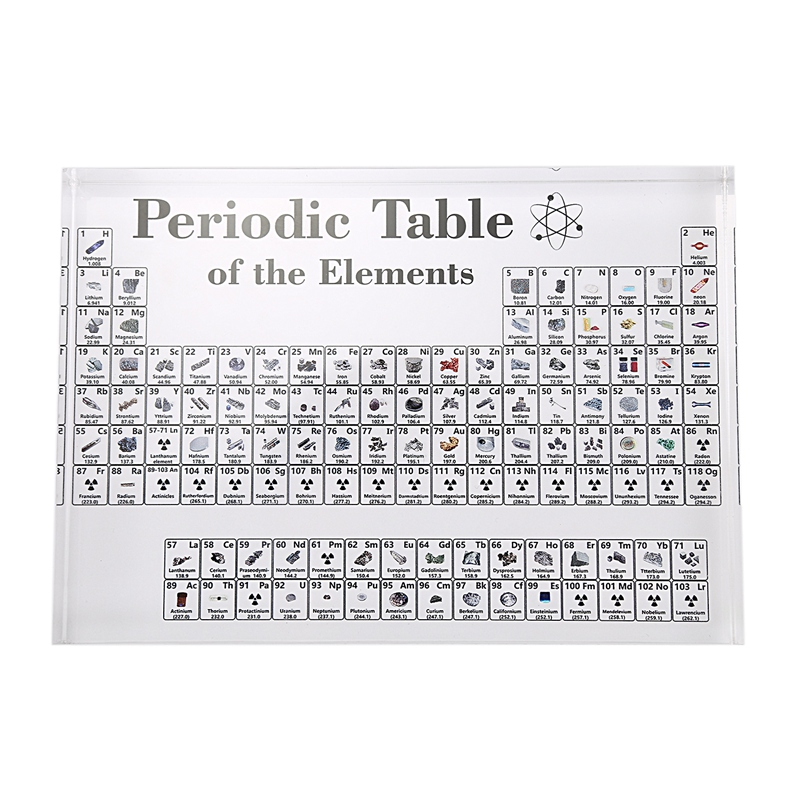 Acrylic Periodic Table Display with Elements Table Display, with Elements Student Teacher Gifts Chemical Craft Decoration
