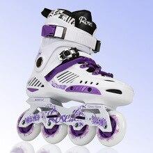 Обувь для катания на роликах для взрослых, роликовые коньки, раздвижные,, Профессиональные роликовые коньки, размер 36-44, женские и мужские роликовые коньки