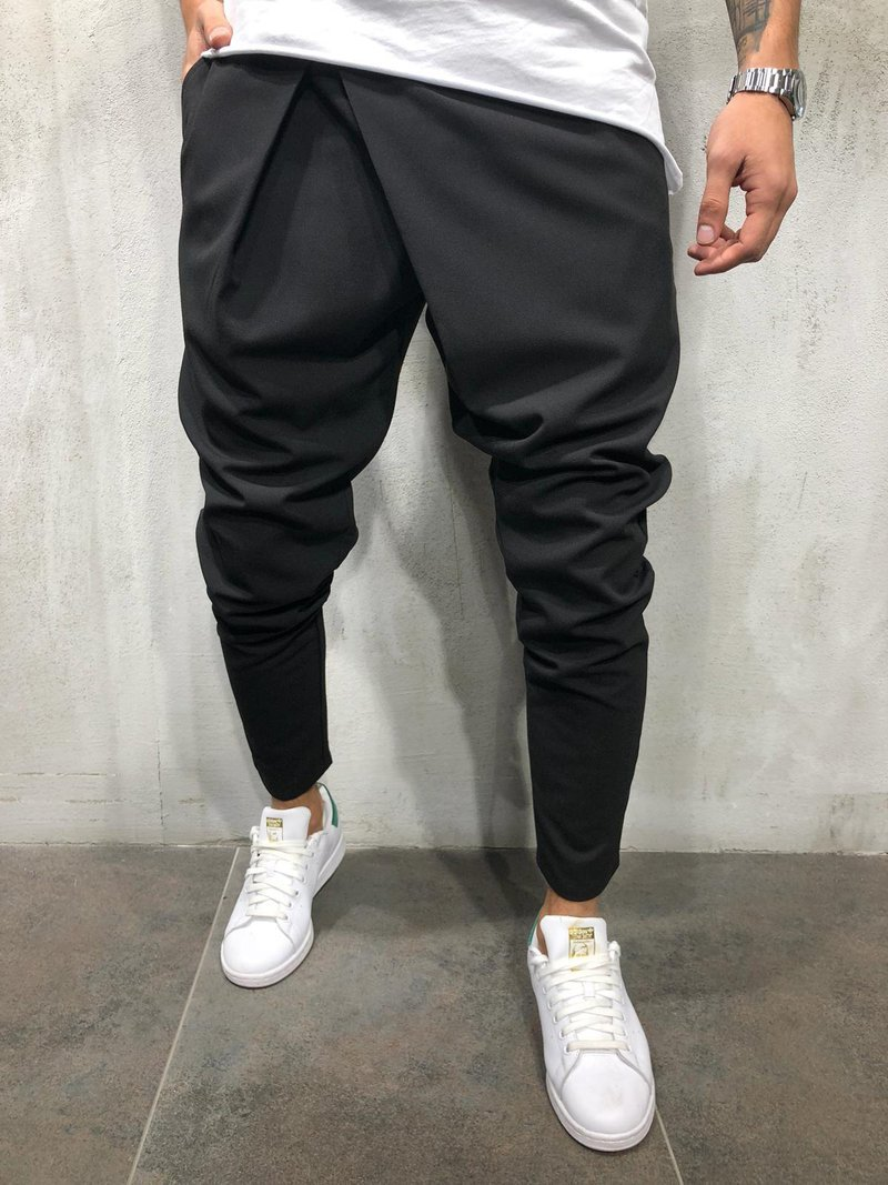 2018 New Style MEN'S Casual Pants Slim Fit MEN'S Trousers Elasticity Skinny Small Suit Pants Youth Trend Men's Trousers