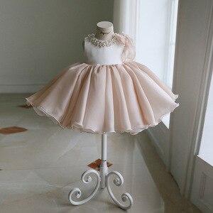 Новое Новогоднее платье для малышей Детские платья для крещения с блестками и кружевным бантом для девочек платья на крестины для новорожд...