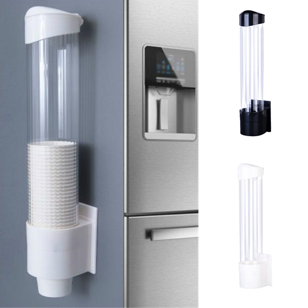 Cups Paper Cup Dispenser Plastic Cups Holder Disposable Automatic Holder Dustproof Free Punching Paper Cup Rack