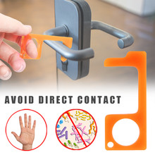 Non Contact Door Opener Key Ring Tool Door And Elevator Button And Handle Anti-contact Isolation Easy To Clean And Reuse Edc Key