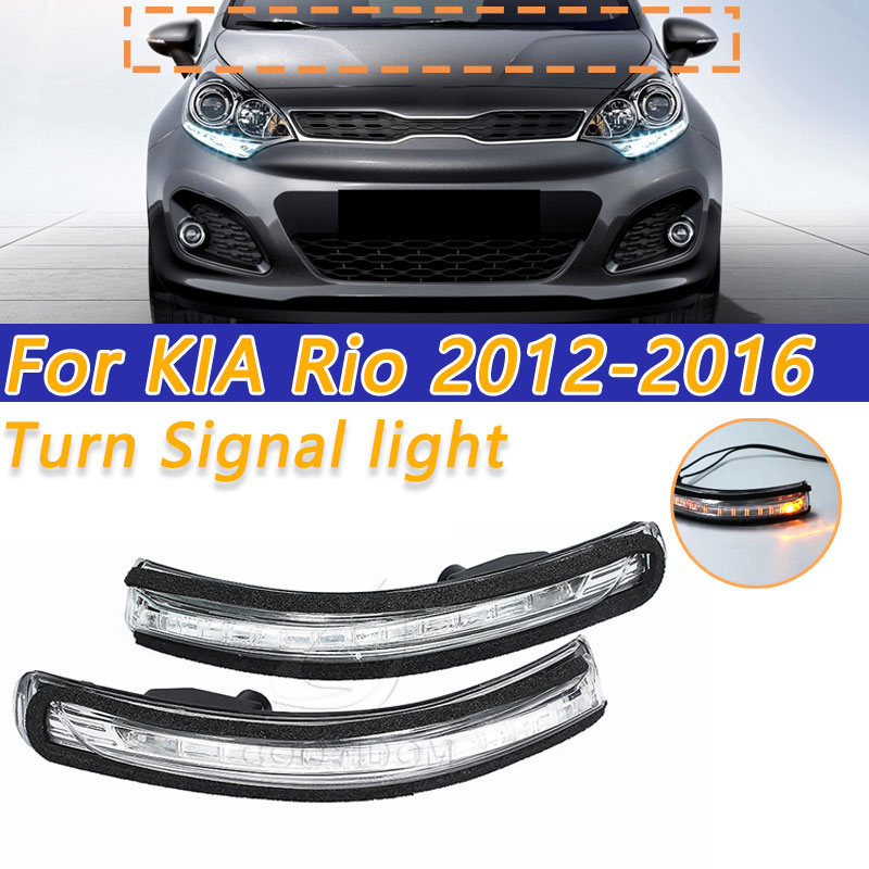 COOYIDOM For KIA Rio 2012-2016  87624-1W000 Car Rearview Mirror LED Turn Signal Light Mirror Indicator Lamp Flashing Light Left