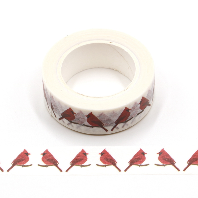 10M Cute Decorative Red Birds Robin Washi Tape DIY Scrapbooking Sticker Label Japanese Masking Tape School Office Supply