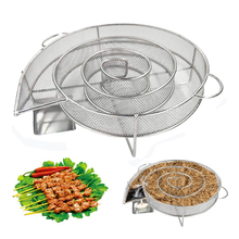 Cold-Smoke-Generator Bbq-Accessories Fish-Smoker-Box Barbecue-Grill Wood Stainless Bacon