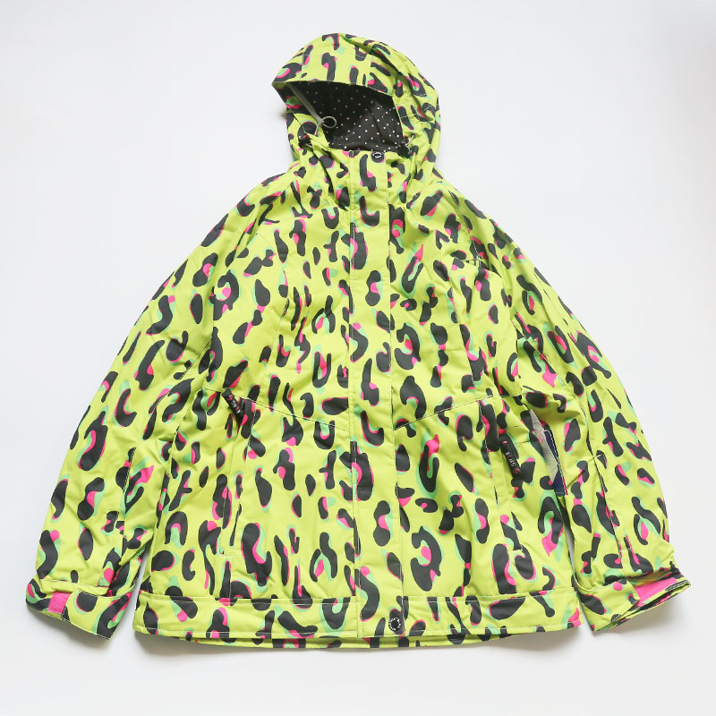 Новое поступление, куртки для сноуборда bluemagic, женский лыжный костюм, зимние уличные Водонепроницаемые зимние костюмы, женская одежда, тонкое пальто, дышащая - Цвет: GRN LEO JKT
