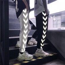 HOUZHOU Reflektierende Hosen Frauen Harajuku Hip Hop Harem Liebhaber Hose Jogger Mujer Mode Streetwear Jogginghose Lose Hosen Dünne