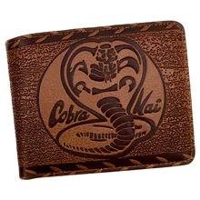 Cobra kai vintage carteira masculina couro bifold 7 slot para cartão de crédito 1 id titular do cartão windows