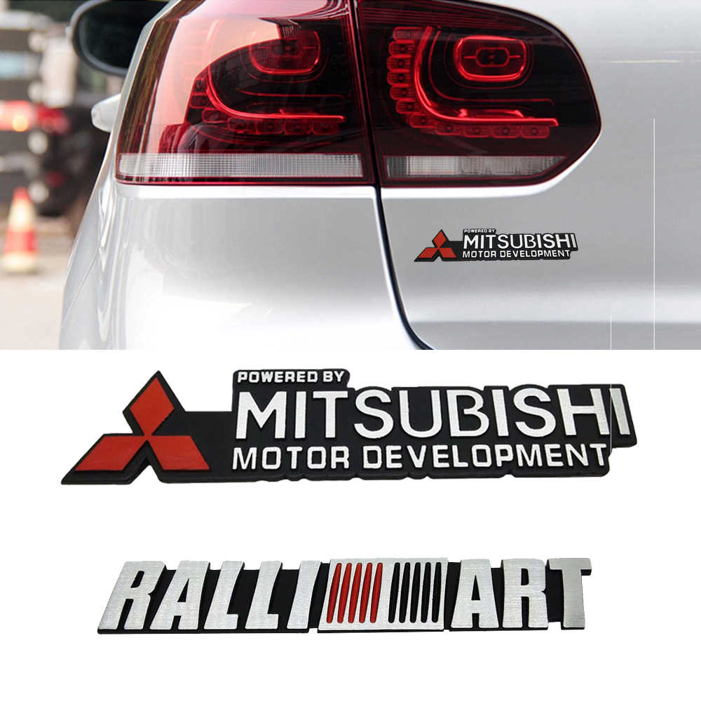 Voor Mitsubishi Ralliart L200 Outlander Asx Lancer Pajero Eclipse Galant Auto Side Sticker Decal Emblem Fender Duurzaam Accessoires