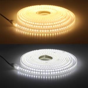 Image 5 - 220V Dây Đèn LED 2835 Độ Sáng Cao IP65 Chống Nước Linh Hoạt Đèn LED An Toàn Cao Ngoài Trời Đèn LED Băng 1 đồng Hồ Dây + Tặng Phích Cắm