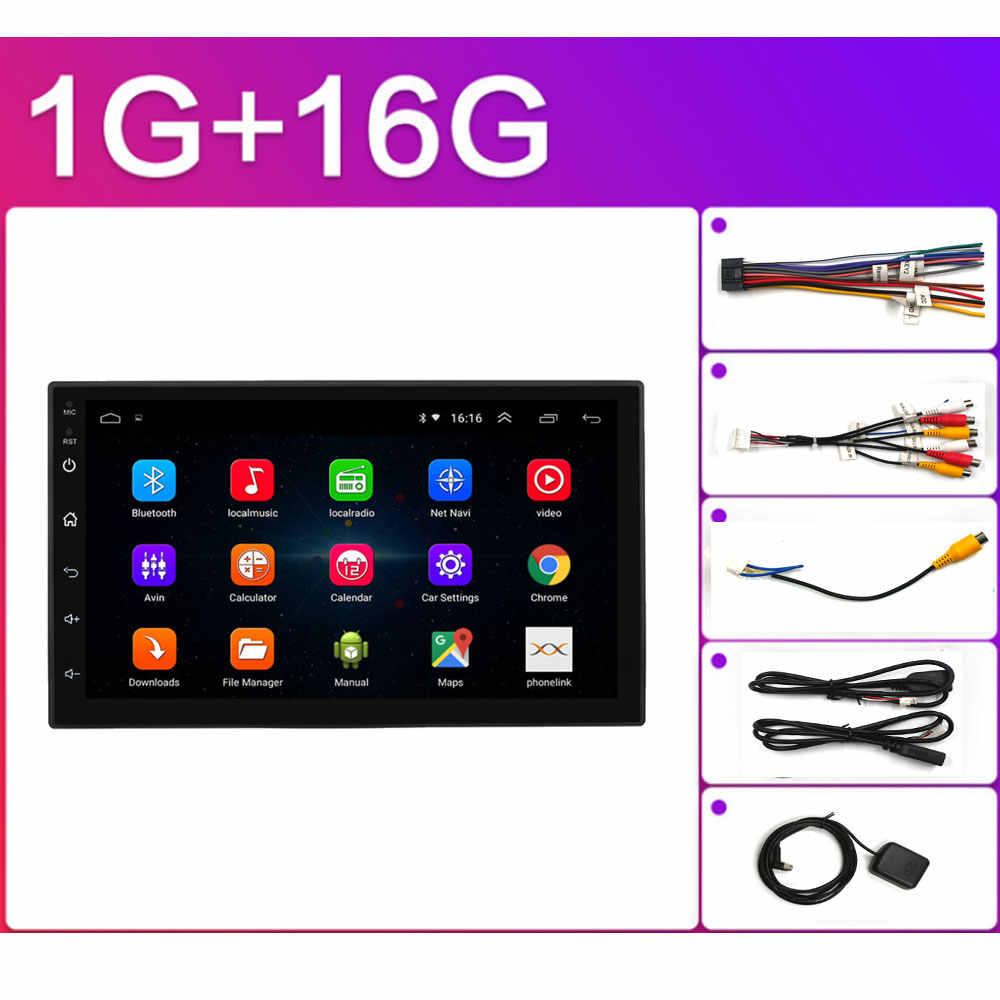 """Autoradio 2 din Android coche Radio HD 7 """"Pantalla táctil Audio Bluetooth cámara de visión trasera MP5 Multimidio reproductor de coche Android doble en navegación GPS Android 8,1 radio reproductor de vídeo Universal"""
