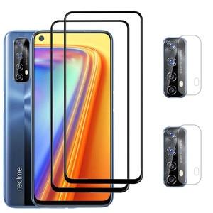 Image 1 - 9D الزجاج المقسى ل Realme 7 8 pro الزجاج Realme 8 7pro واقي للشاشة الهاتف سلامة الجبهة نظارات Realme 7 7 5g طبقة رقيقة واقية