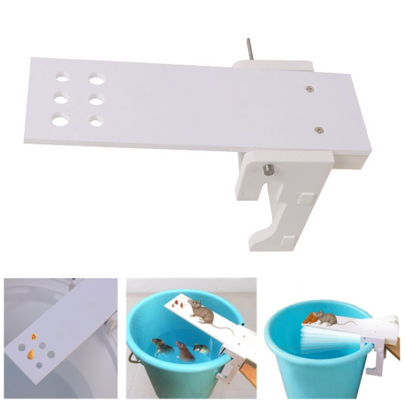 HOT Home Garden Pest Controller Rat Trap Quick Kill Seesaw Mouse Catcher Bait Walk The Plank Mouse Trap Mice Cage Rat Control image