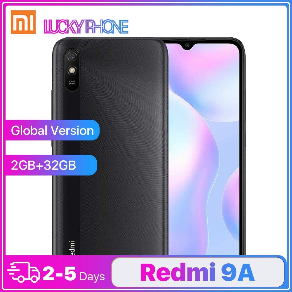 Xiaomi-Smartphone Redmi 9A versión Global, teléfono inteligente con 2GB y 32GB, MTK Helio G25, pantalla HD de 6,53 pulgadas, ocho núcleos, cámara trasera ia de 13MP, batería de 5000mAh