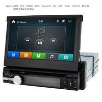 1 Din Car Stereo GPS Navigation Car DVD 7 Inch Car Radio Detachable Panel Car Head Unit Bluetooth SWC Mirror Link DVBT