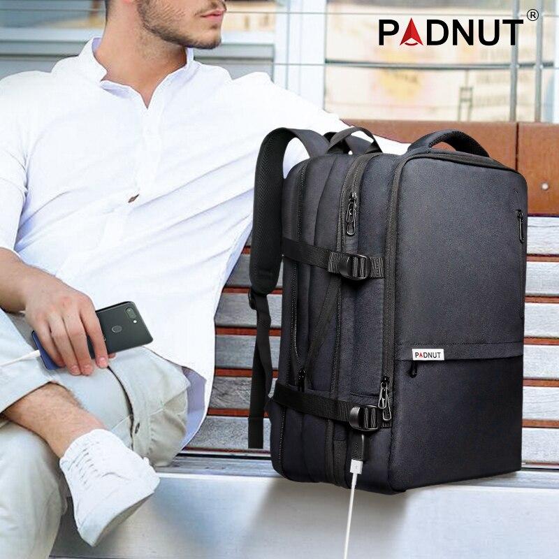 Mochila Retro de cuero genuino para hombre, mochila para ordenador portátil de gran capacidad, mochila escolar, bolsos de hombro para hombre, mochilas de viaje de cuero marrón - 6