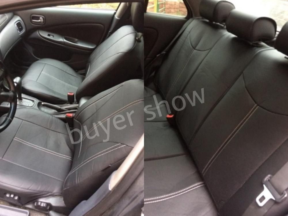 1set New car seat cover Pu leather material made by the seat covers Black universal car