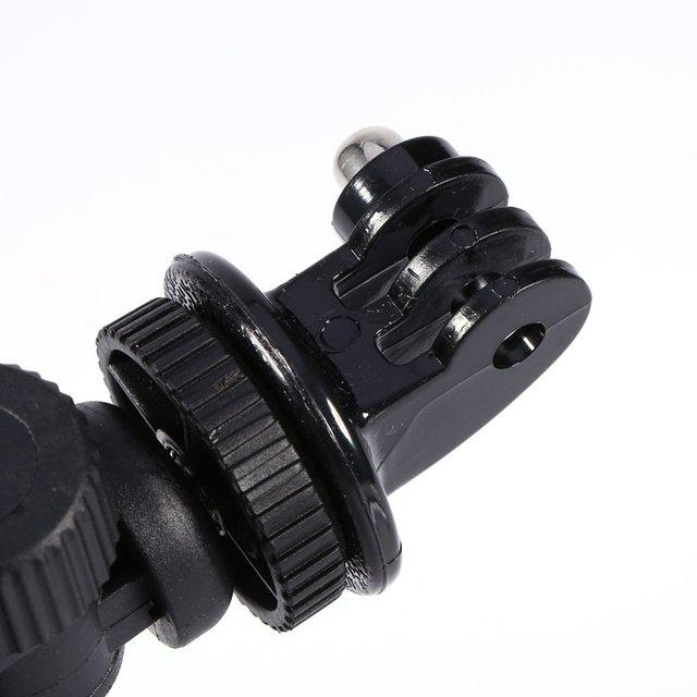 GloryStar Black Bike Bicycle Motorcycle Handlebar Handle Clamp Bar Camera Mount Tripod Adapter For Gopro Hero 1 2 3 3+ 4 6