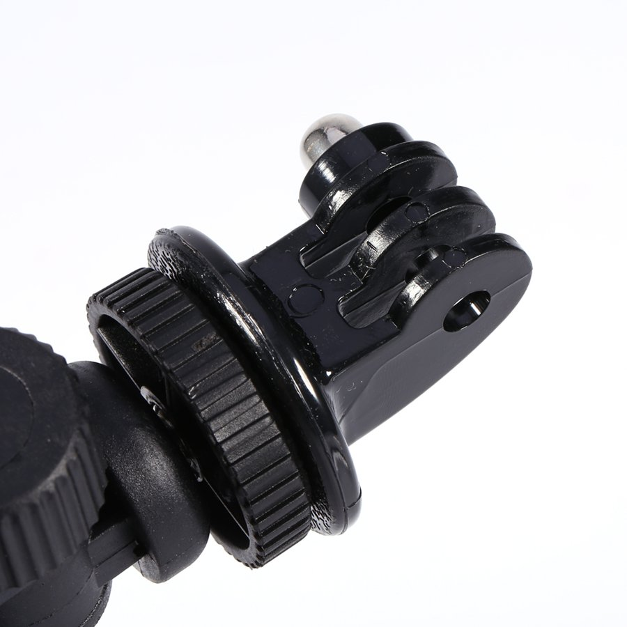GloryStar Black Bike Bicycle Motorcycle Handlebar Handle Clamp Bar Camera Mount Tripod Adapter For Gopro Hero 1 2 3 3+ 4-5