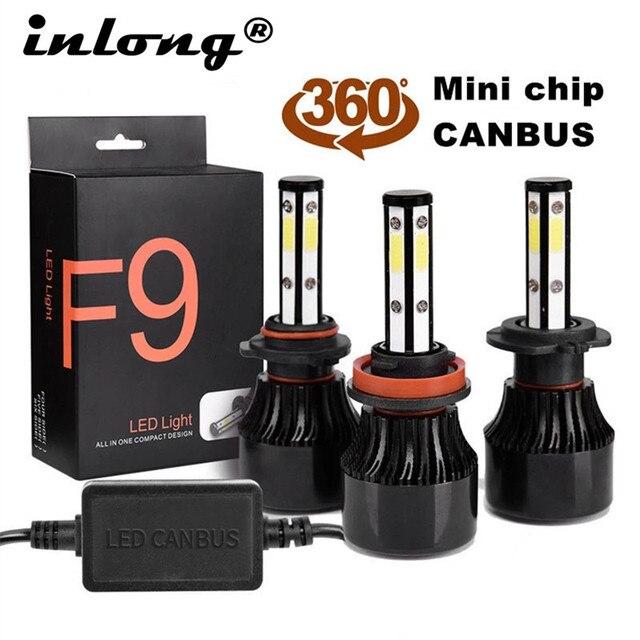 2 Chiếc H4 Bóng Đèn LED H7 LED H11 H8 9006 HB4 9005 HB3 Tự Động Đèn Led Đèn Pha Ô Tô 14000LM Cao Thấp chùm Tia Đèn Ô Tô Đèn 6000K 12V
