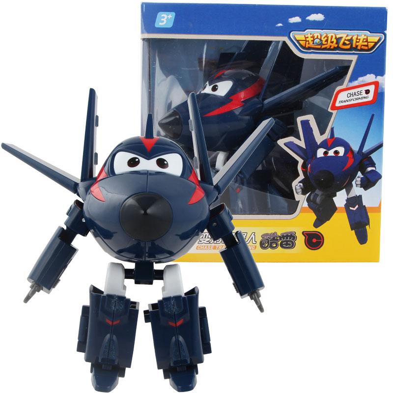 Большой! 15 см ABS Супер Крылья деформация самолет робот фигурки Супер крыло Трансформация игрушки для детей подарок Brinquedos - Цвет: With Box CHASE