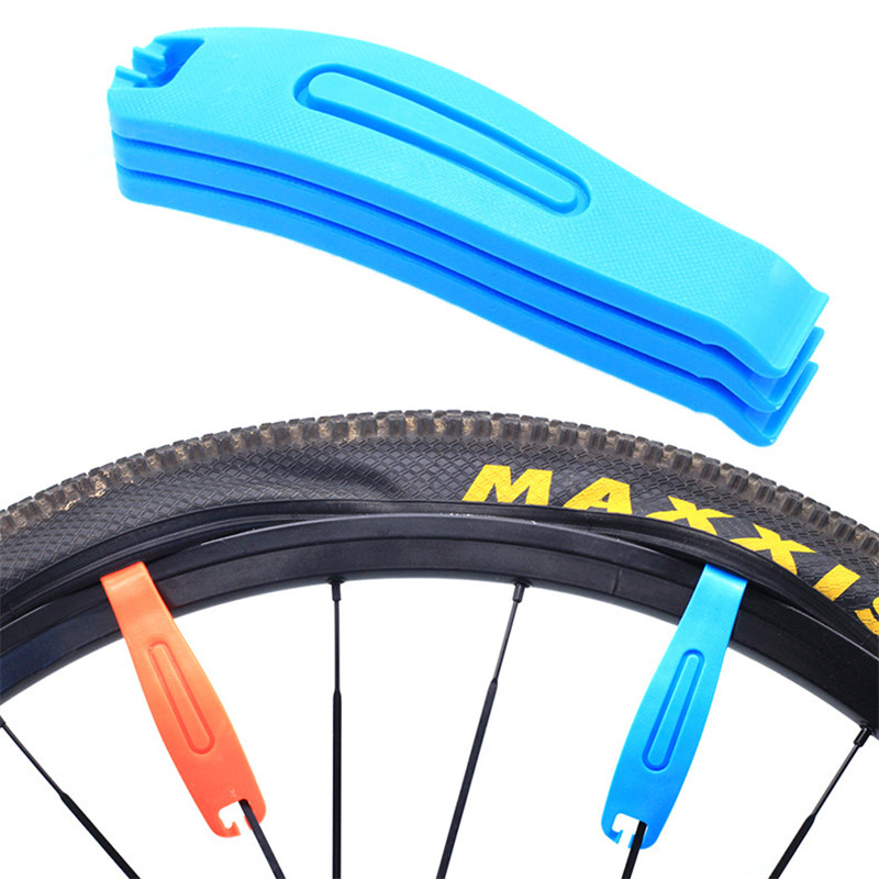 1Pcs Tire Spoon Ultralight Durable Curved Hardened Plastic Bike Tyre Tire Lever Remover MTB Bike Wheel Repair Tire Tool Orange