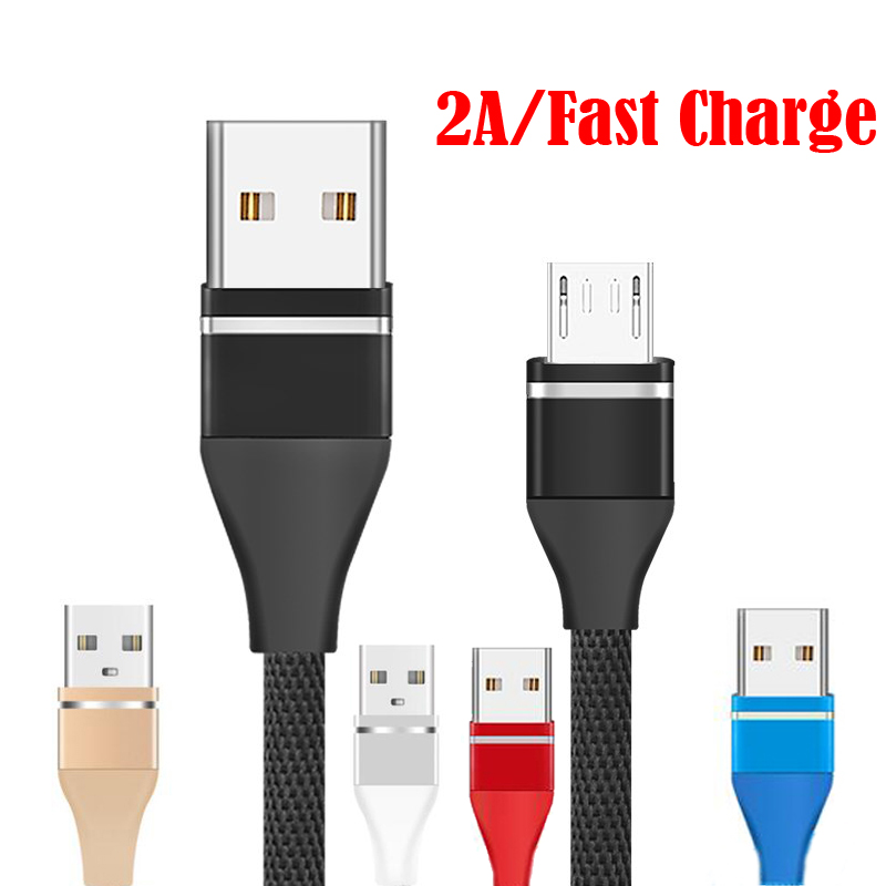 Micro USB Cable Fast Charging Microusb Charge Cable For Samsung Xiaomi Data Wire Cord Android Mobile Phone Cable