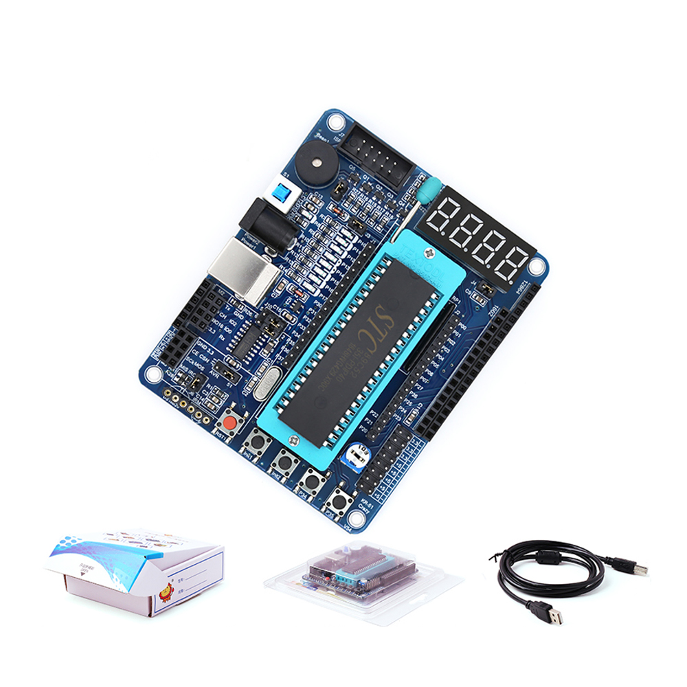 51 SCM Development Board STC89C52 Minimal System C51 Learning Experiment Programming Intelligent Car Control Board Smart Robot