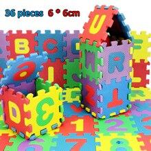 36 шт. Ребенок игра коврик ребенок дети буквенно-цифровой обучающий головоломка блоки младенец ребенок игрушки подарки Juguetes Tapete Infantil игрушка