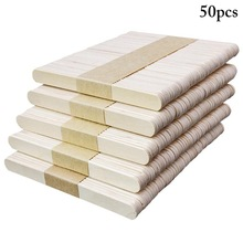 50pcs Popsicle Stick Ice Cube Maker Cream Tools Model Special-Purpose Wooden Craft Stick Lollipop Mold Accessories