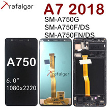 Für SAMSUNG GALAXY A7 2018 LCD Display Touch Screen Mit Rahmen A750 A750F SM A750F/DS SM A750G Bildschirm Für SAMSUNG a7 2018 LCD