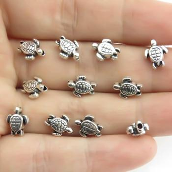 20/40/80Pcs Vintage Sea Turtle Spacer Beads Handmade DIY Bracelet Jewelry image