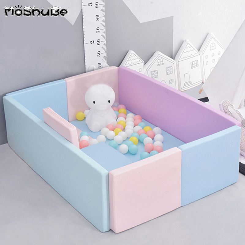 PU Folding Fence Baby Soft Playpens Fence Game Gym Playmat Home Living Room Baby Pool Kids Safety Barrier For Newborns