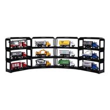 Black Plastic Display Shelf Toy Model Car Protection Show Storage Case DIY Kits