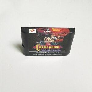 Image 2 - Castlevania הדור החדש EUR כיסוי עם תיבה הקמעונאי 16 קצת MD משחק כרטיס עבור Sega Megadrive בראשית וידאו משחק קונסולה