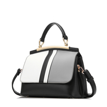 REALER Women Handbag Fashion Patchwork Pattern Tote Bag with top-handle High Quality Artificial Leather Shoulder Crossbody Bags