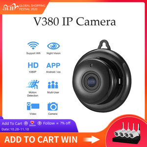 Image 1 - IP Camera Wifi Mini HD1080P Home Security Wireless Small CCTV Infrared Night Vision Motion Detection SD Card Slot Audio V380 APP