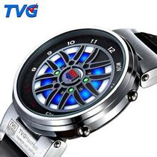 TVG mężczyźni zegarki mężczyźni sport zegarki moda kreatywne zegarki mężczyźni Led cyfrowe zegarki elektroniczne zegarki na rękę relogio masculino tanie tanio NONE STAINLESS STEEL CN (pochodzenie) 26cm 3Bar Cyfrowy Sprzączka ROUND 20mm 11mm Hardlex Odporna na wstrząsy Wyświetlacz LED