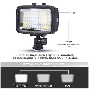 Image 5 - Gopro light 40m Underwater Waterproof Diving Camera Light Lamp with High Brightness LEDs for GoPro Xiao Yi SJCAM Action Camera