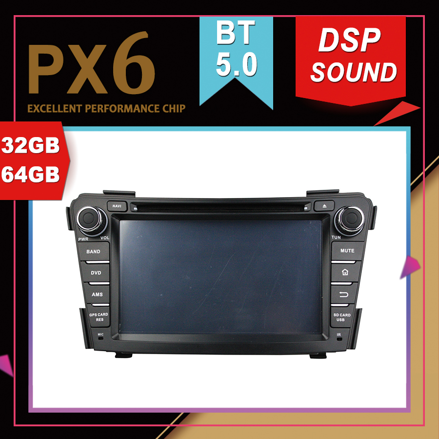 PX6 Excellent Performance Android 9.0 Car Multimedia <font><b>GPS</b></font> For <font><b>HYUNDAI</b></font> <font><b>I40</b></font> 2011-2014 DSP Sound Navigation Tape Recorder Car Radio image