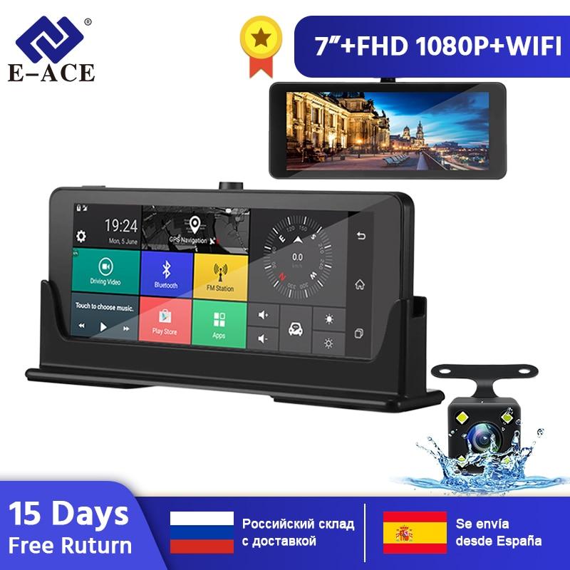 E-ACE E07 1080P HD 4G Auto DVR Kamera ADAS Video Recorder Android 5.1 GPS Navigation Remote Monitor Lkw Dash cam Dual Kameras