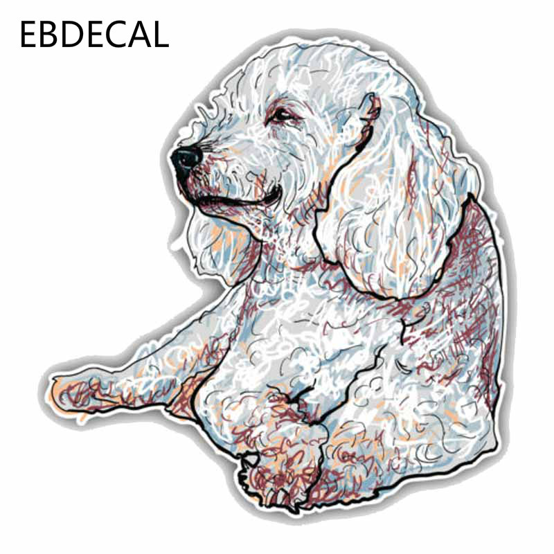 Poodle Dog Head Car Bumper Sticker Decal 3/'/' or 5/'/'