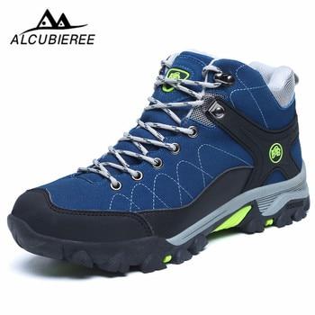 2020 Men Fashion Hiking Shoes Waterproof Fur Winter Boots For Men Warm Men's Winter Sneakers Outdoor Trekking Sport Climbing