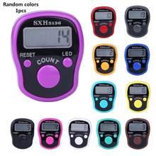 Ponto marcador dedo anel contador led night light eletrônico contador de contagem eletrônico plástico ferramentas cor aleatória