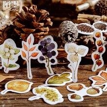 46 Teile/paket Nette Fallenden Blätter Aufkleber Dekorative Aufkleber Scrapbooking Valentinstag liebhaber Geschenk überraschung