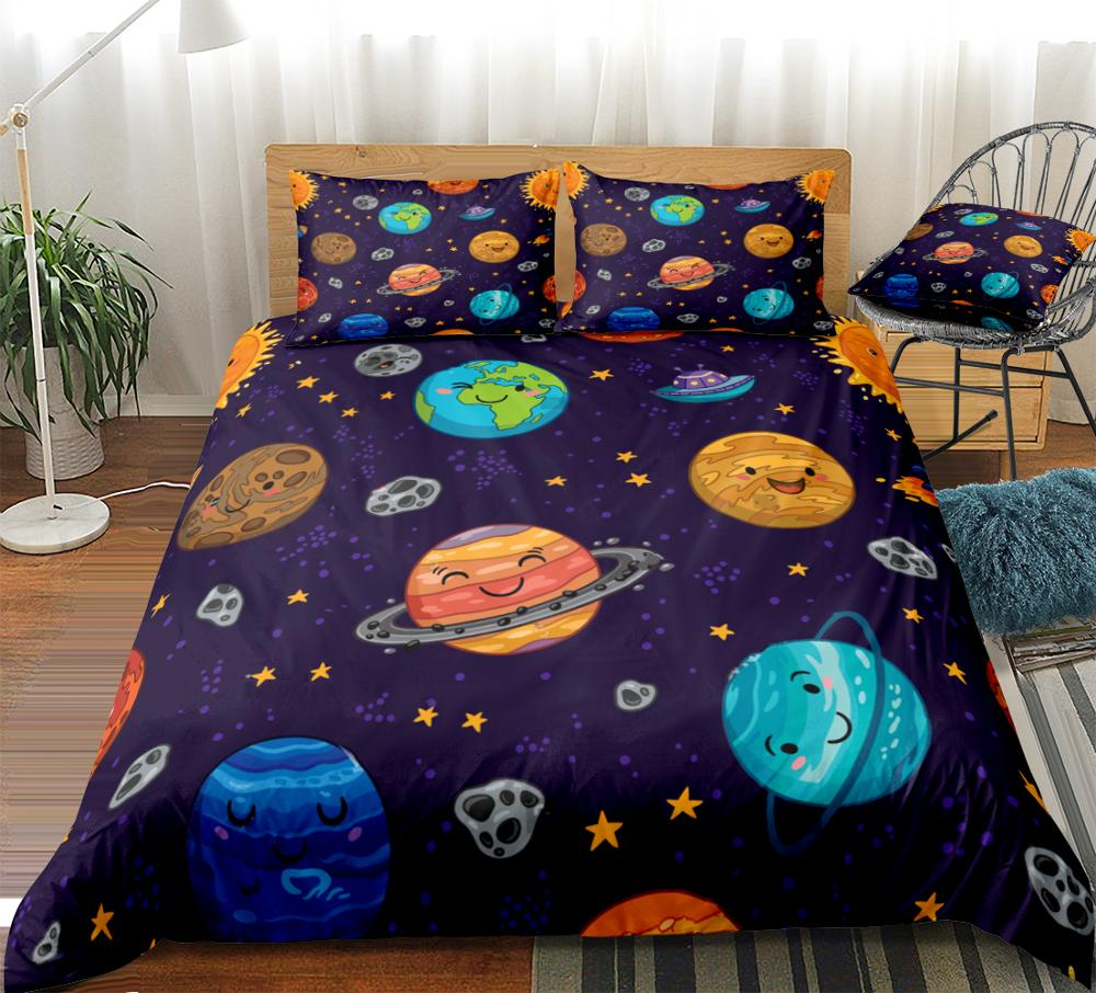 Space Chimp Boys Girls Kids Single Duvet Quilt Cover Children Bedding Set