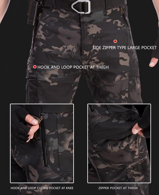TAD-veste tactique pour homme, veste imperméable en coquille souple, costume tactique de Camouflage et peau de requin, manteaux militaires + pantalons 6