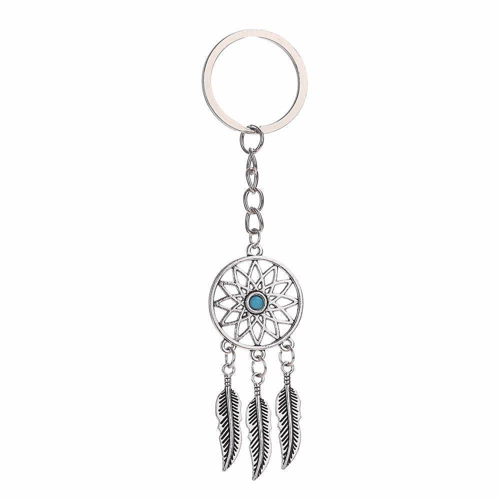 Boho keychain Quasten Catcher Schlüsselring splitter farbe Geschenk Dekoration metall schlüssel kette Dropshipping freeshipping